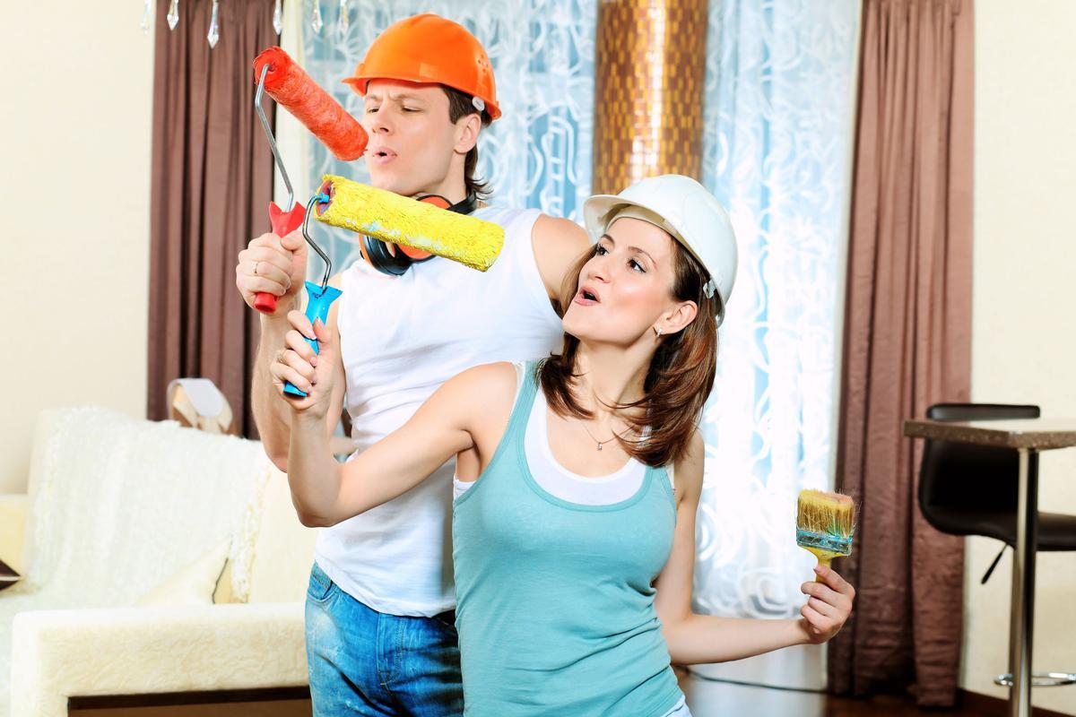Смешные картинки муж с женой делают ремонт, справедливость смешные картинки